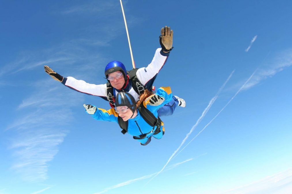 Charity champs take to skies for hospital cause