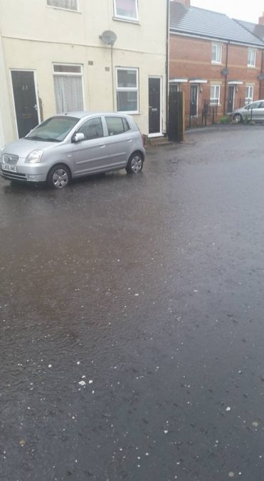 FLOODING: Dustan Street in Netherfield (Picture courtesy of Abi Hallam)