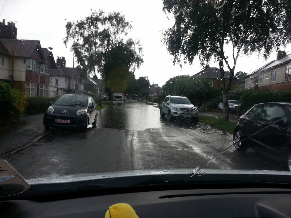FLOODING: First Avenue in Colwick (Picture courtesy of Millie Holland)