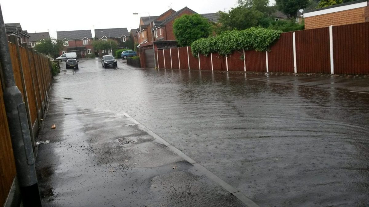 FLOODING: Kappler Close in Netherfield (Picture courtesy of Louise Lindley)