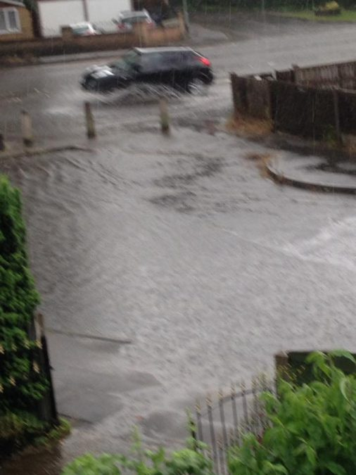 FLOODING: Rectory Road in Colwick (Picture courtesy of Alison Nunn)