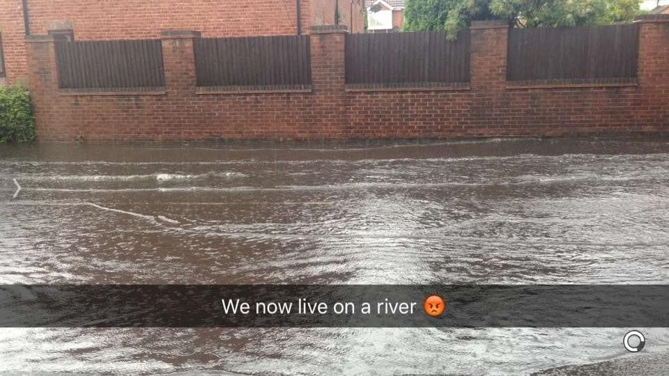 FLOODING: Vale Road in Colwick (Picture courtesy of Lisa Hibbert)