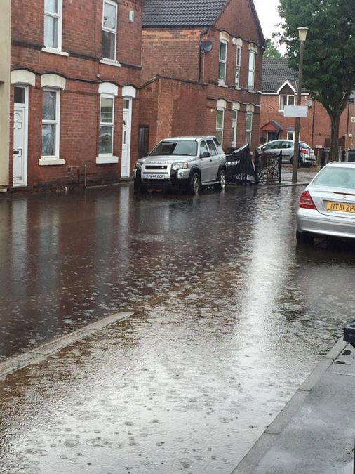 FLOODING: Wallet Street in Netherfield (Picture courtesy of Hannah Louise)