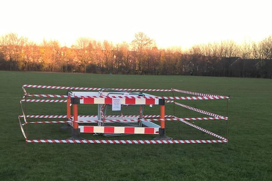 Photo of Council warn people to keep away from sinkhole in Carlton park