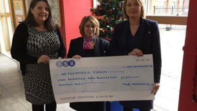 Photo of Netherfield branch of TSB help fund Christmas meal for pensioners