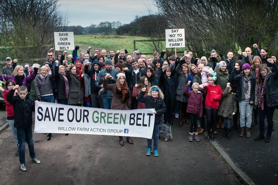 Photo of Protest group to voice objections to Willow Farm housing plans at public meeting