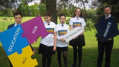 Photo of Carlton school students say their piece for global education campaign