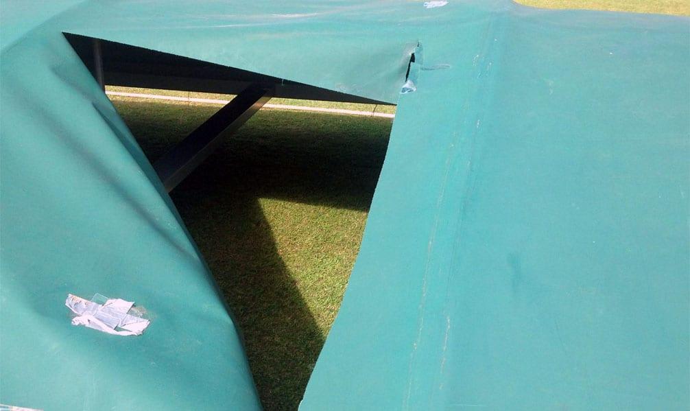 Cricket covers damaged at Calverton club
