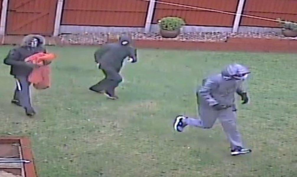 VIDEO: Watch shocking CCTV footage of men smashing way into house in Gedling