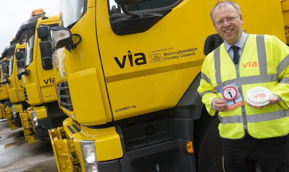 Firm looking after borough roads celebrate first year in business