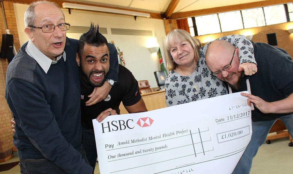 Wrestlers grapple to raise cash for Arnold mental health charity