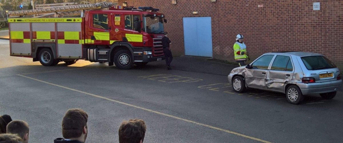 Photo of Firefighters educate Carlton students on road safety