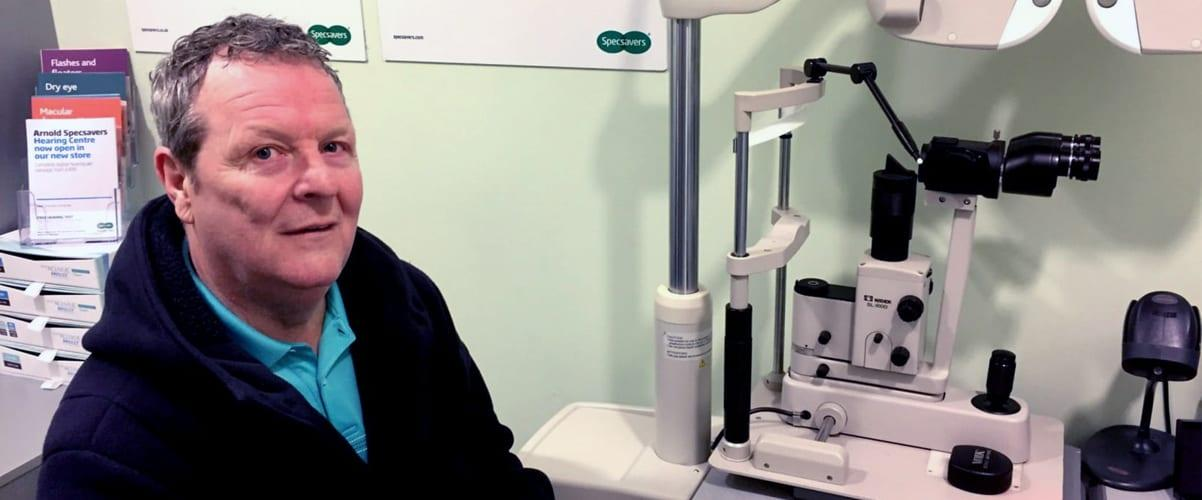Arnold man saved from blindness by keen-eyed Specsavers optician
