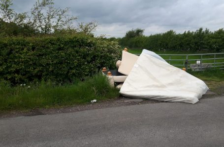 PICTURED: Fly-tip sites at Radcliffe on Trent showing waste dumped by Lee Foster.