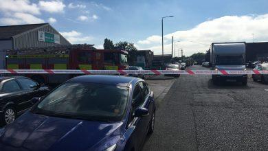 Photo of Explosion reported at Colwick Industrial Estate