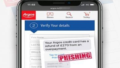 Photo of Shoppers in Gedling borough warned over scam Argos texts offering credit card refund