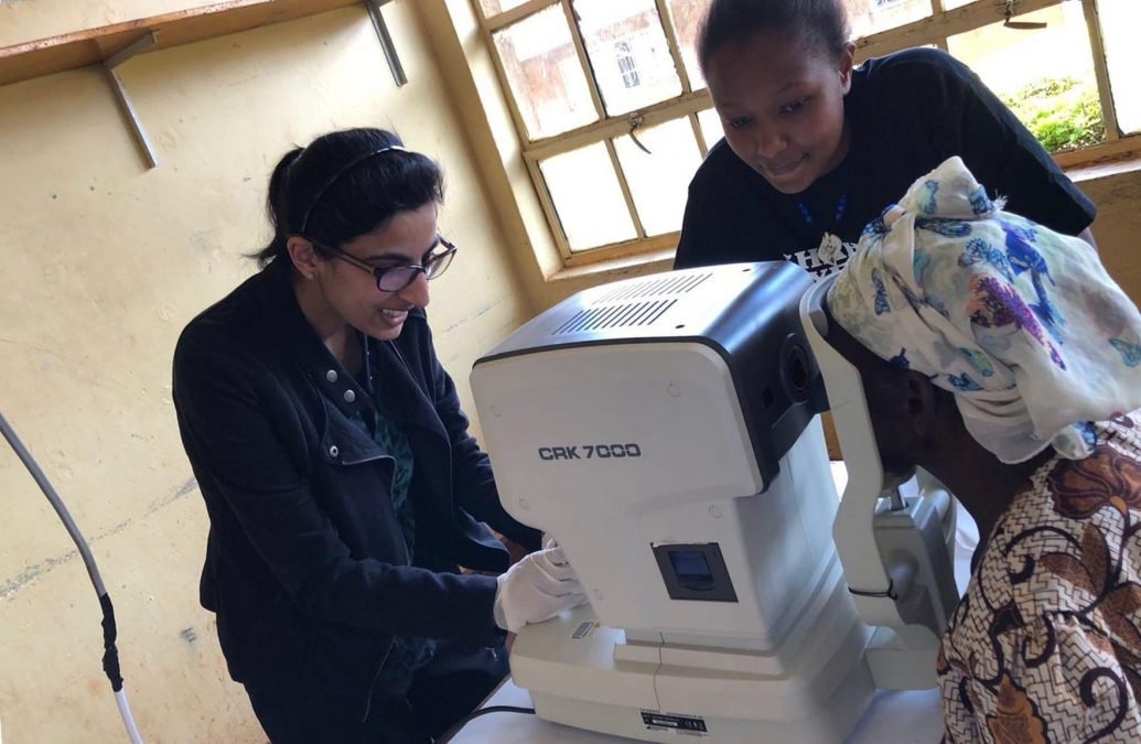 Arnold Specsavers optician helps run eyecare clinic in Kenya