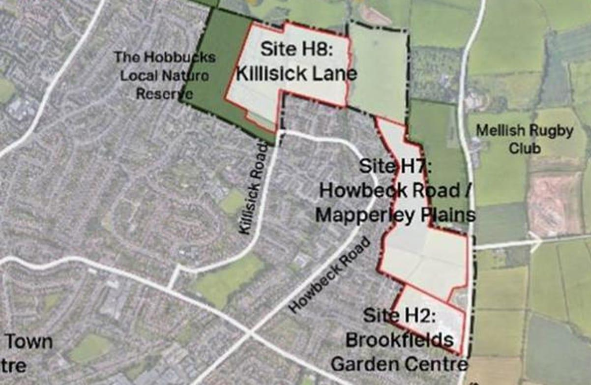 Have say on plans for more than 500 homes on Arnold and Mapperley border