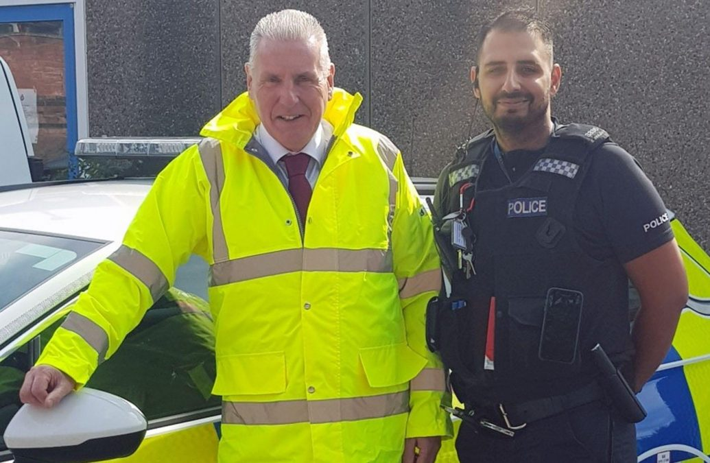 Gedling MP joins police officers on the beat in the borough