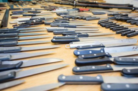 PICTURED: Knives can be handed in using a number of bins located across the borough (PIC: Nottinghamshire Police)