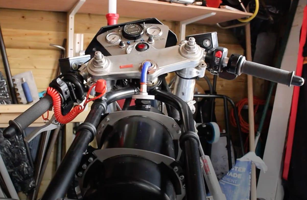 VIDEO: Arnold man hopes to smash world record with jet-powered bike built in garden shed