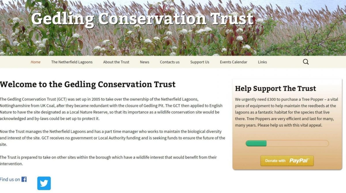 Photo of New-look website for Netherfield nature reserve
