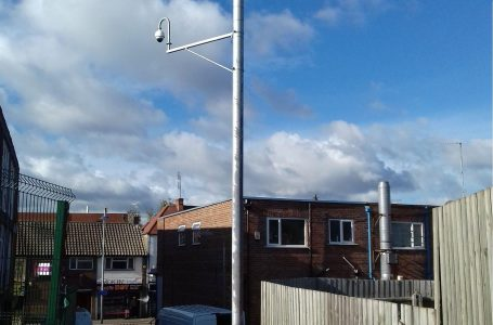 PICTURED: The CCTV camera in the footpath leading to Front Street