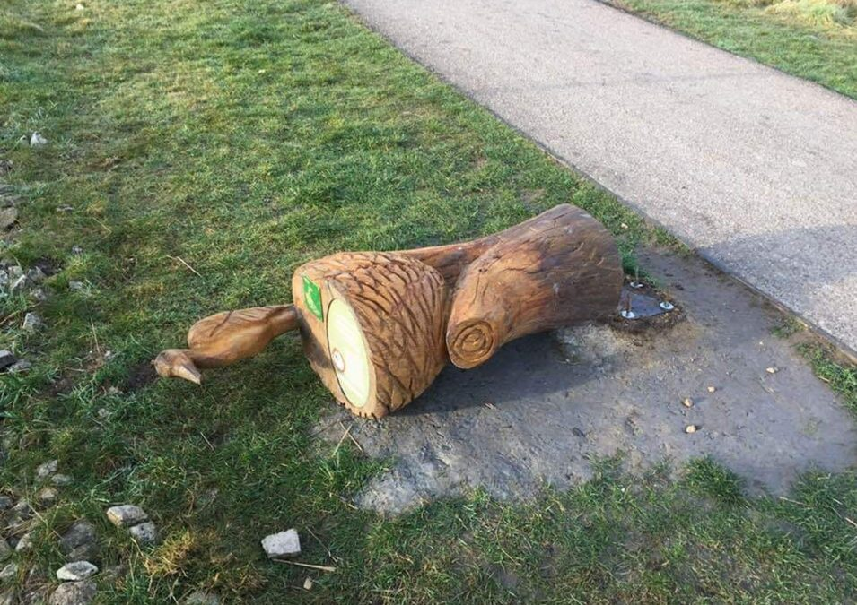 Photo of Wildlife sculptures in Gedling Country Park targeted again by vandals