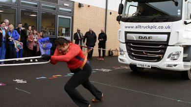 Photo of Colwick firm provide truck used to break Guinness World Record by Leicestershire 'Iron Queen' Asha Rani