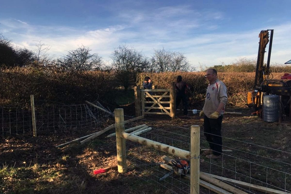 Walkers in Calverton rejoice after new gate is put in place allowing access to field which had been fenced off suddenly
