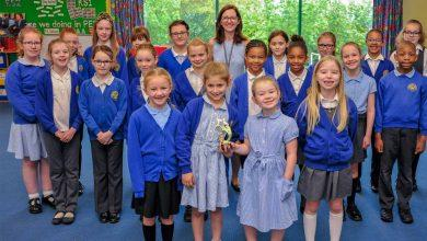 Photo of Burntstump primary school choir in fine tune to win competition