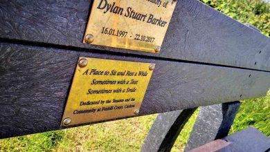 Photo of Friends and family gather at Gedling Country Park to see unveiling of memorial bench for Dylan Barker