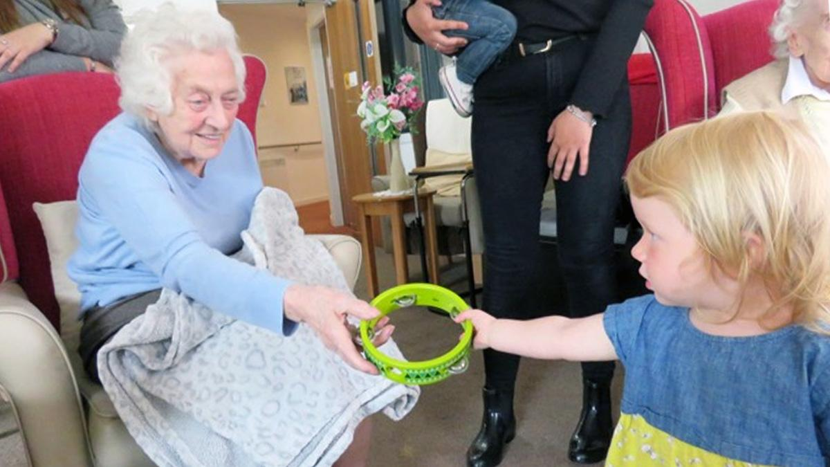 Toddlers from Arnold make new friends at local care homes