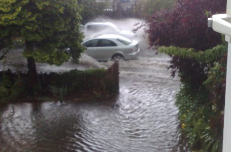 PICTURED: Flooding on Mansfield Lane back in 2013