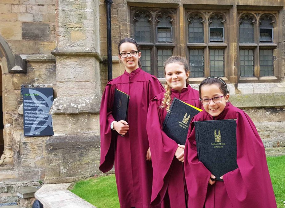 These Gedling girls have become Southwell Minster's youngest ever female choir singers