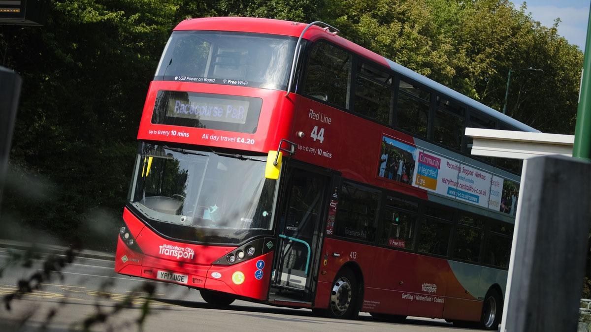 Nottingham City Transport announce Red 44 bus timetable changes which come into effect this month