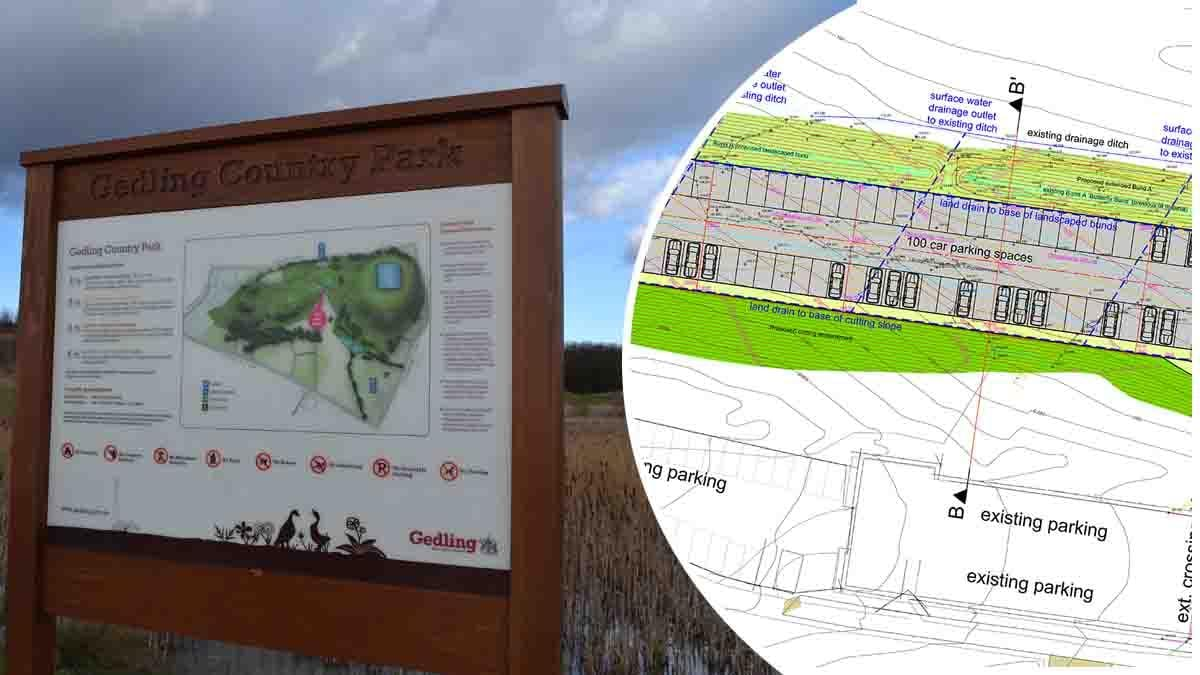 Plans submitted for 100 extra parking spaces at Gedling Country Park