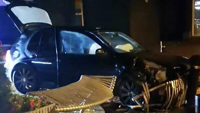 Photo of Police appeal as car crashes into seating area near Arnold Market