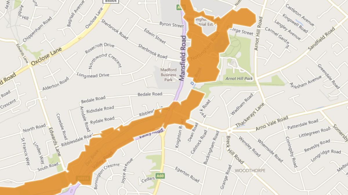 Flood alerts in Gedling borough as rain batters Notts