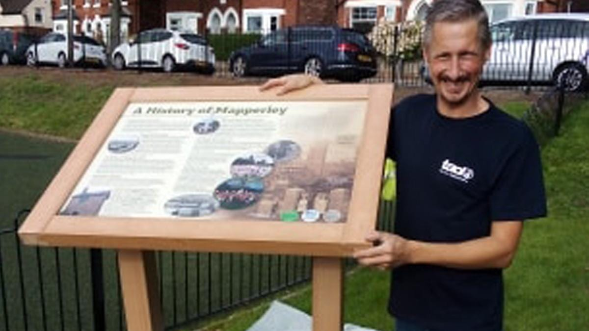 New local history board unveiled at Haywood Road Green in Mapperley
