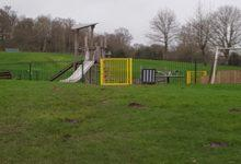 Photo of Playground set on fire at James Seely Playing Field in Calverton