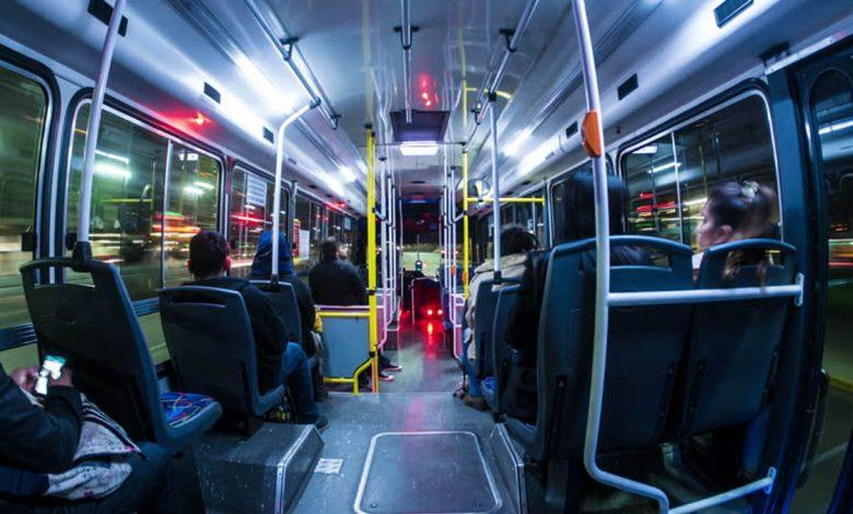 Passengers on a late bus