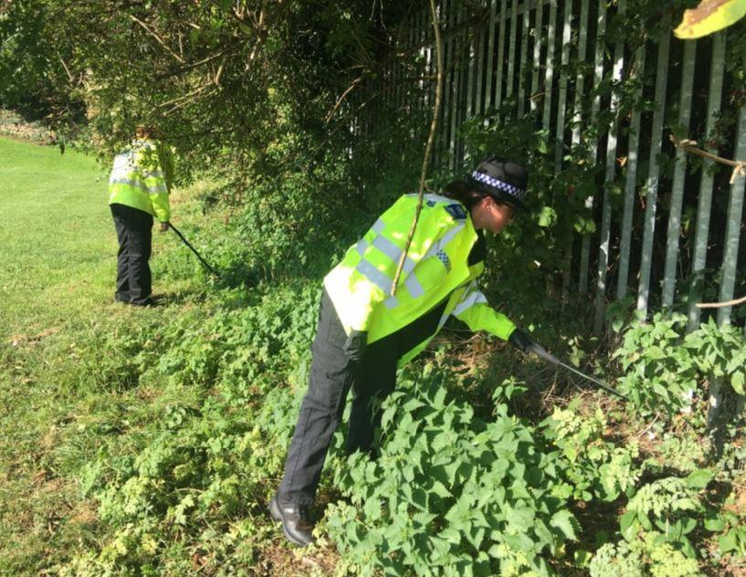 Police and council carry out weapons sweep of park in Carlton