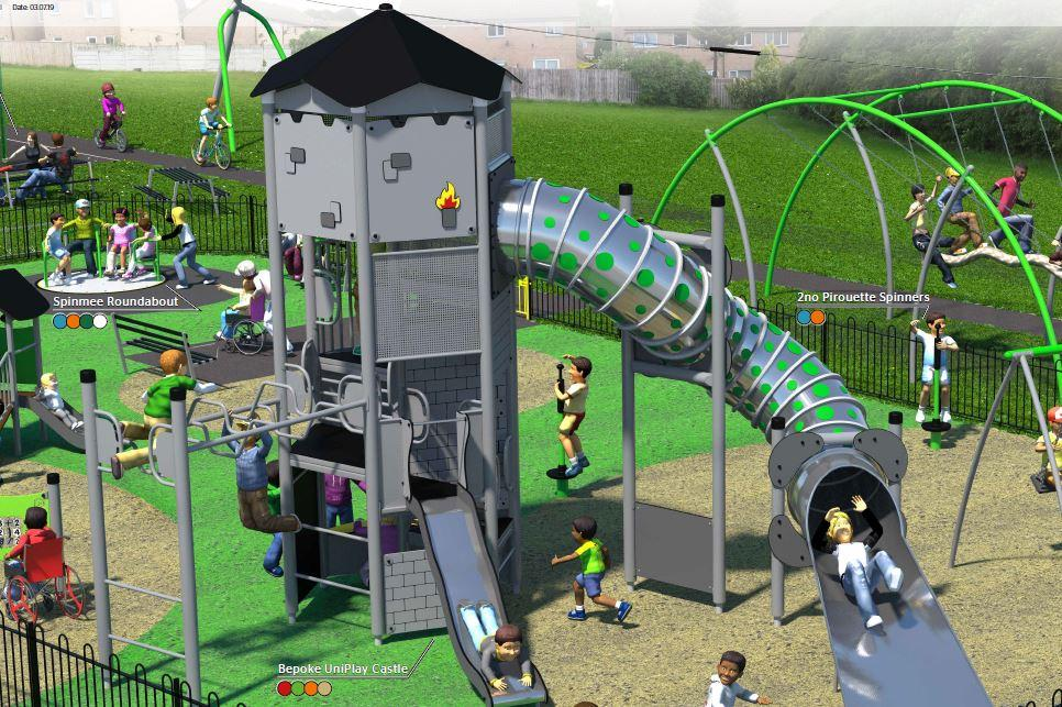 Work begins on long-awaited £100,000 facelift for Arnold play park