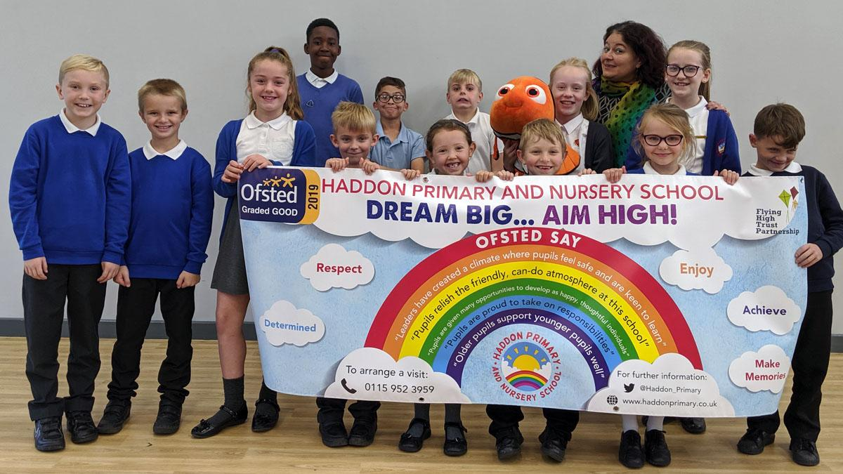 Carlton's Haddon Primary & Nursery School wins Ofsted praise