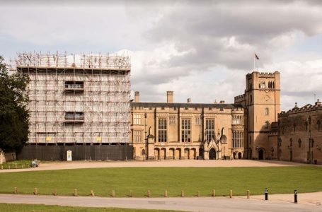 PICTURED: Repairs being carried out on Newstead Abbey