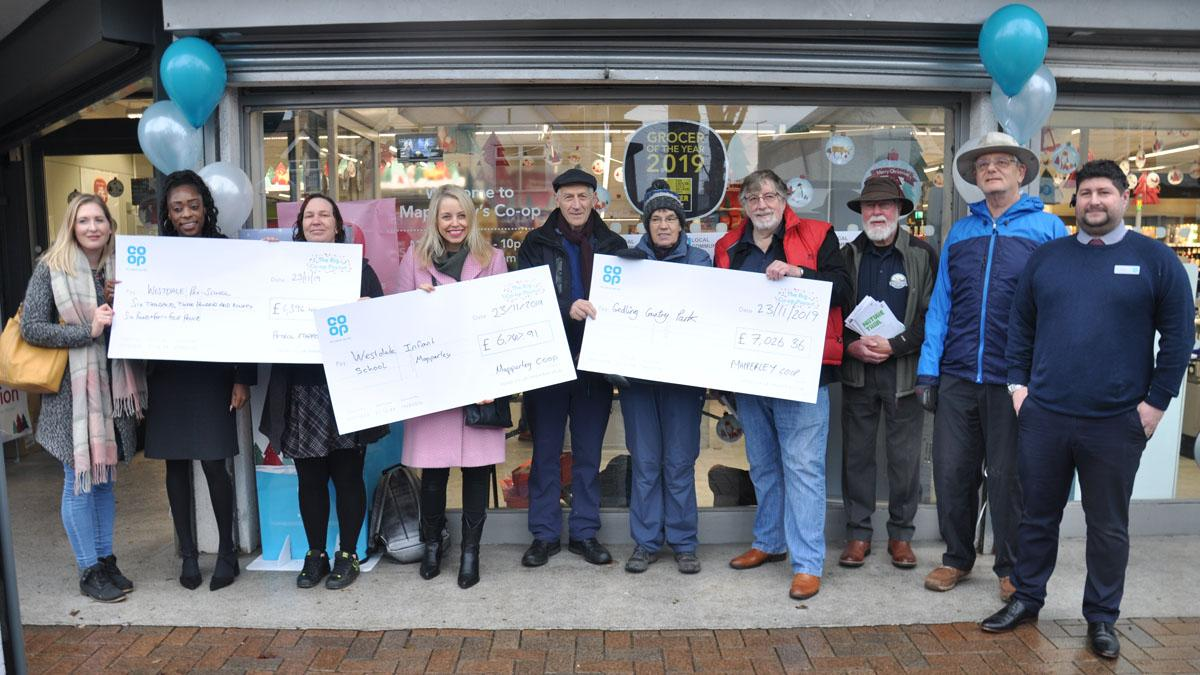 Co-op in Mapperley backs trio of good causes in Gedling borough with £20k cash boost