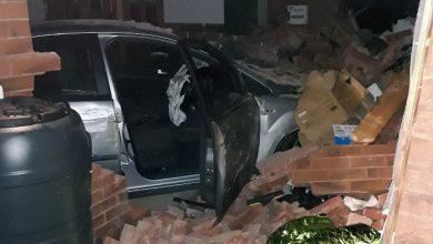Photo of Two arrested after car crashes into house in Arnold