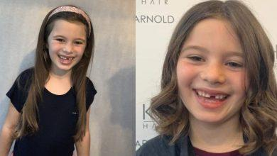 Photo of Little Princess: Mila is a cut above as she has hair chopped for cancer charity at Arnold salon