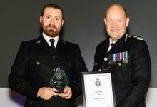 Photo of Police officer who starred in Bodycam Squad recognised for 'outstanding' work in Gedling borough